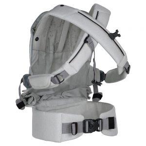 кръстосани презрамки BeSafe Haven™ ергономична раница за носене на бебе - Stone Premium-Leaf